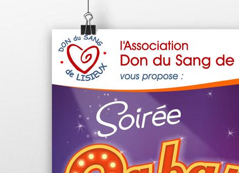 Affiches et flyers – Don du Sang Lisieux