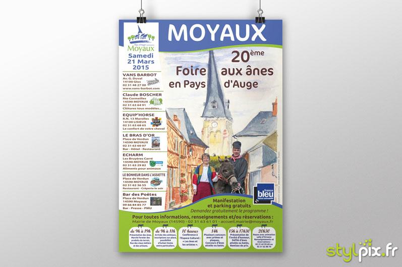 Flyers Foire aux Anes 2015 Moyaux Pays Auge