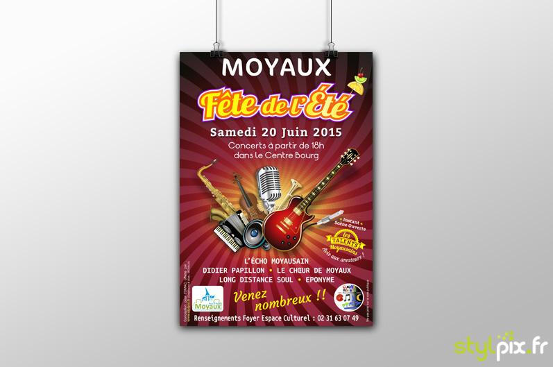 création graphique Flyer Moyaux Calvados