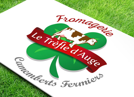 Création Logo Fromagerie Le Trèfle Auge Orne Camemberts Fermiers
