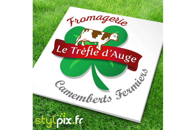 affiche donateurs Fromagerie Trefle Auge Camemberts Fermiers Orne Normandie