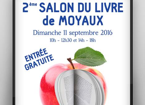 Salon du livre de Moyaux – Affiche/Flyers