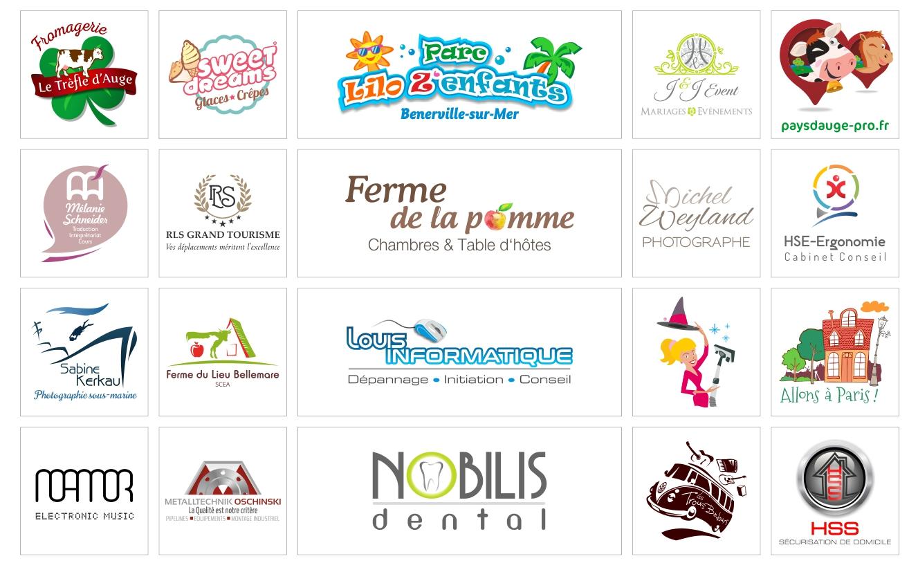 graphiste logos création graphique infographie Normandie Calvados