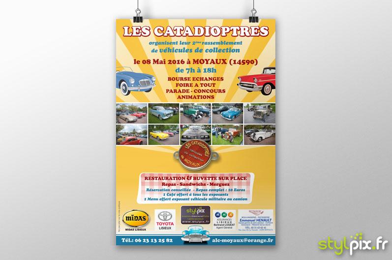 Affiche Catadioptres Moyaux Normandie Calvados