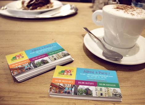 Allons à Paris – Logo & Cartes
