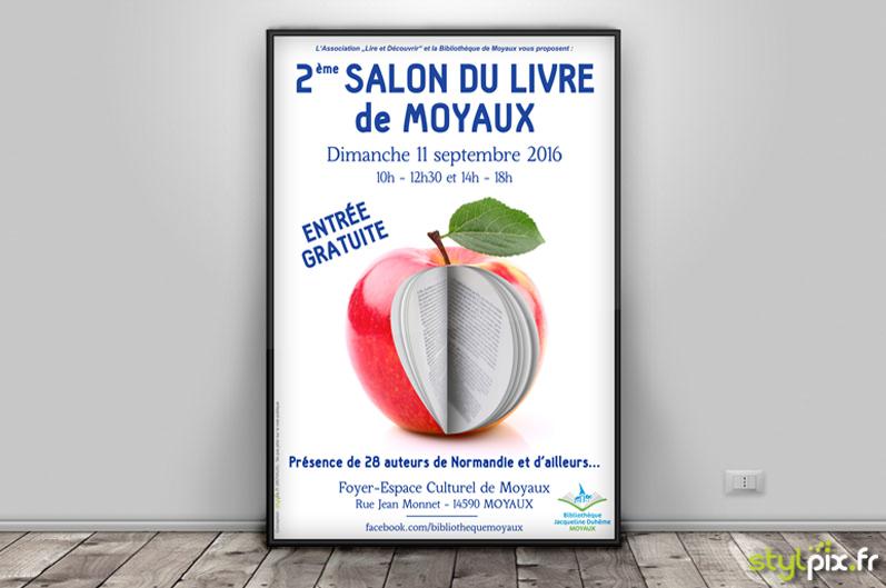Affiche salon livre Moyaux Calvados Normandie