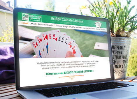 Bridge Club de Lisieux – Site internet