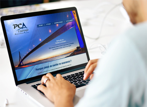 PCA Courtage – Site internet