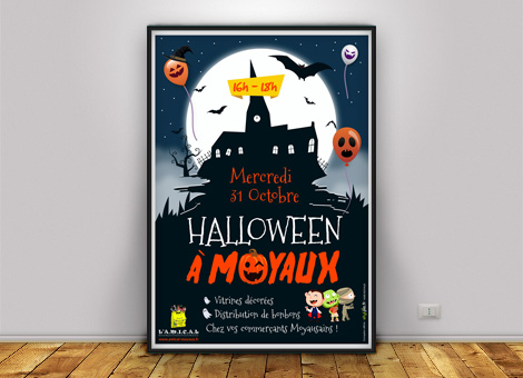 Halloween Amical Moyaux – Affiche/Flyers