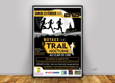 Trail Nocturne Moyaux – Affiche/Flyers