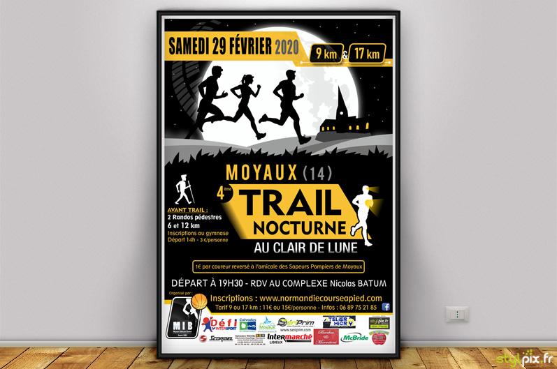 graphique flyer affiche sport normandie