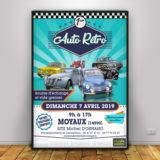 graphiste lisieux flyers affiches auto rétro moyaux