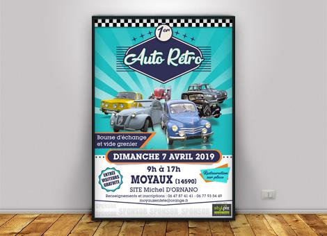Auto Rétro Moyaux – Affiche/Flyers