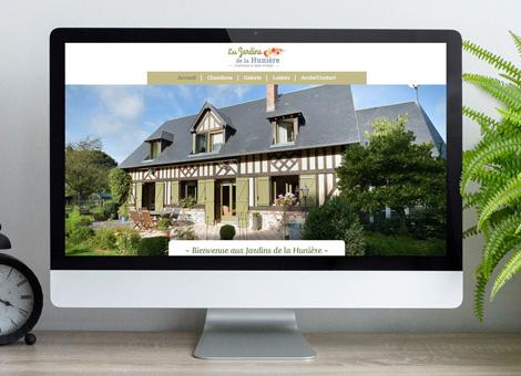 Jardins de la Hunière – Site internet