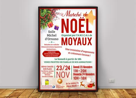 Marché de Noël Moyaux – Affiche/Flyers