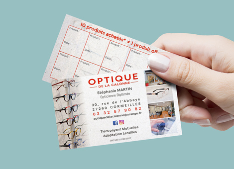 Optique de la Calonne – Cartes de visite