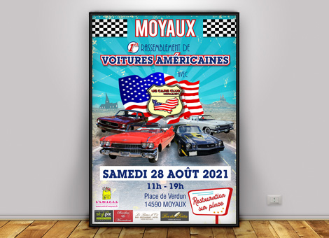 US Cars Club Normandy – Affiche/Flyers